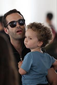 Benjamin Millepied und sein Sohn Aleph