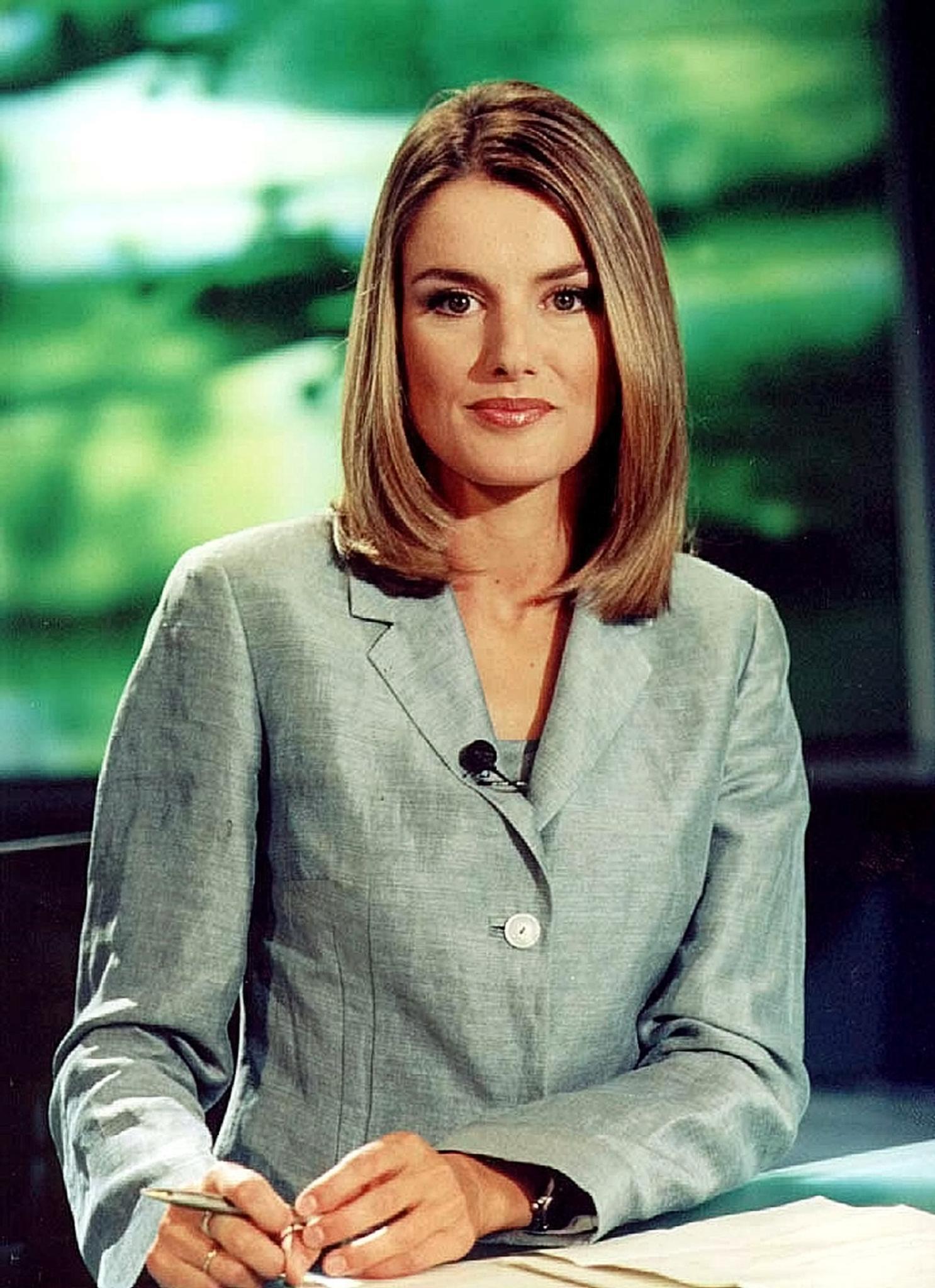Letizia Ortiz Rocasolano als TV-Journlistin im Jahr 2000.