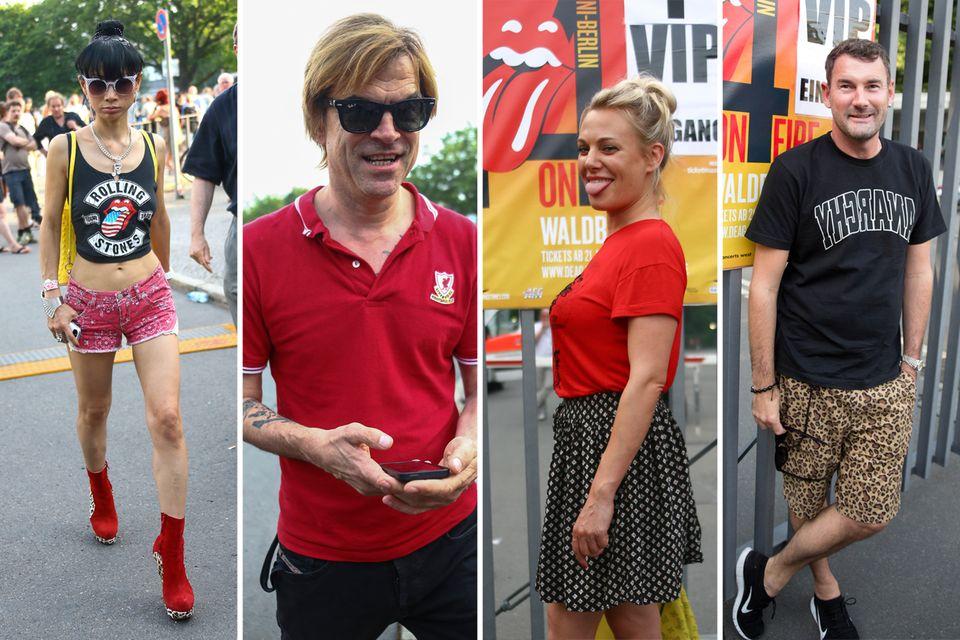 """Bai Ling, Campino, Eva Hassmann und Michael Michalsky beim Konzert der """"Rolling Stones"""" in Berlin."""