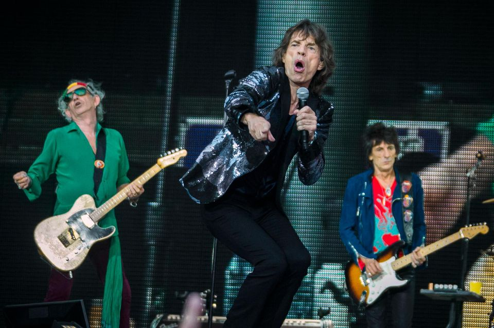 "Keith Richards, Mick Jagger und Ron Wood (v. li.) rockten auf ihrer ""14 On Fire""-Tour auch in Berlin."