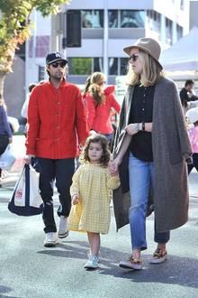 Jason Schwartman und seine Frau Brady Cunningham mit der gemeinsamen Tochter Marlowe.