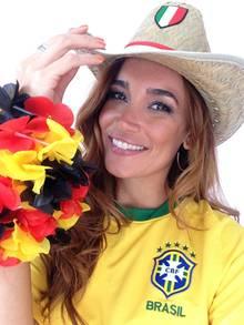 Multikulti-Fan Jana Ina Zarrella wünscht sich das Halbfinale Brasilien gegen Deutschland. Doch zu welcher Mannschaft wird sie dann halten?