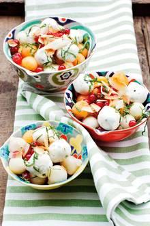 Melonensalat mit Mozzarella