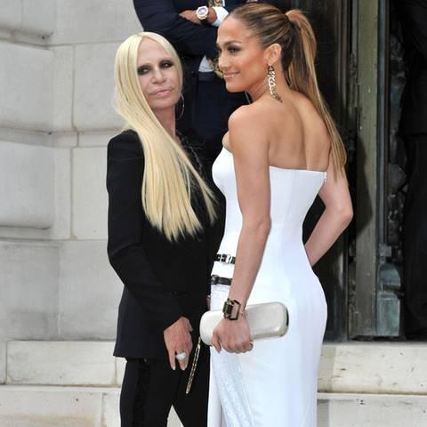 Jennifer Lopez + Donatella Versace
