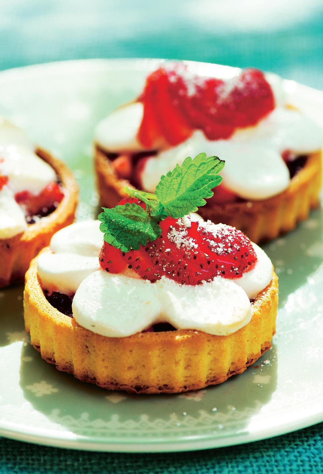 Erdbeer-Marshmallow-Törtchen