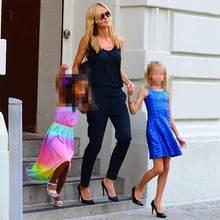 Heidi Klum mit ihren Töchtern Lou und Leni