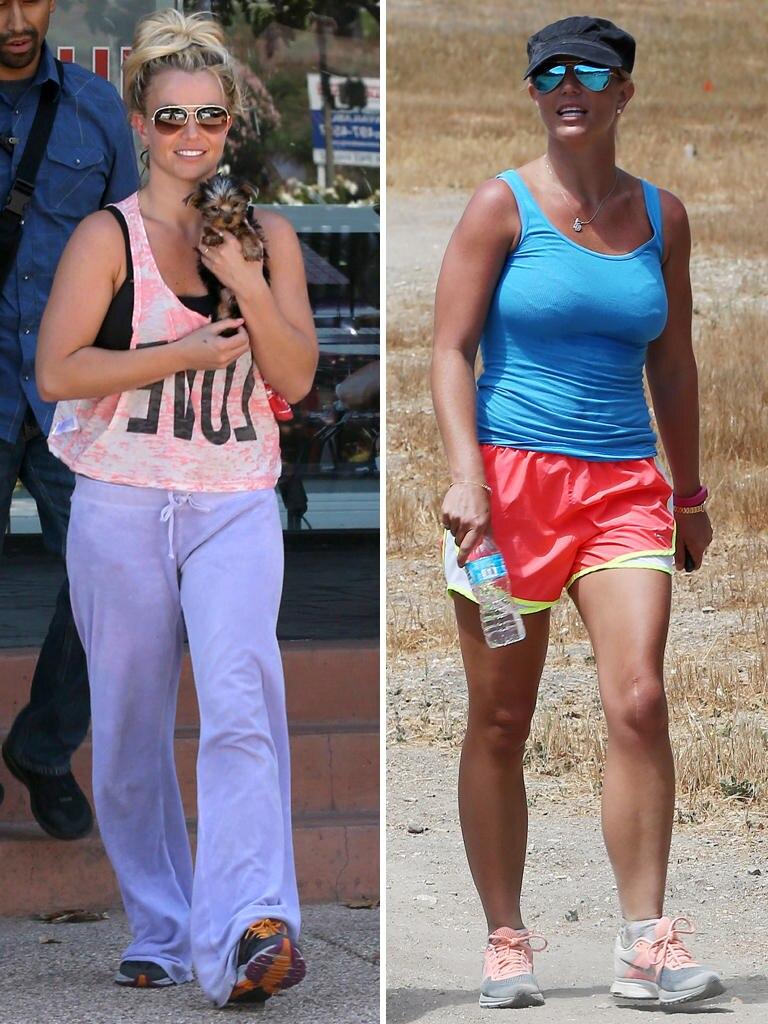 Die schlabbrigen Zeiten sind vorbei: Beim Wandern mit einer Freundin zeigt sich Britney Spears von ihrer sportlichen Seite. Noch vor einem Jahr machte sie sich wenig aus Fitness und vorteilhafter Kleidung.