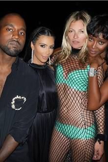 Kanye West, Kim Kardashian, Kate Moss + Naomi Campbell