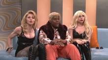 """Bei """"Saturday Night Live"""" versuchte Comedian Kenan Thompson (Mitte) zwischen Madonna und Lady Gaga zu schlichten."""