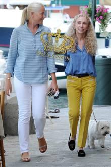 Mette Marit und Franca Sozzani in Portofino