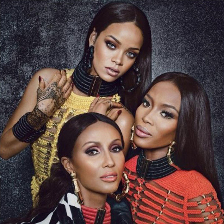 Rihanna, Naomi Campbell, + Iman