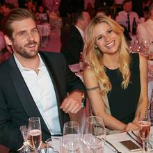 "24. April 2014: Bei den ""Awards for Fashion & Lifestyle"" in Wien straheln Michelle Hunziker und ihr Liebster Tomaso Trussardi in die Kamera."