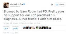 Michael J. Fox: Schockiert über Robin Williams' Erkrankung