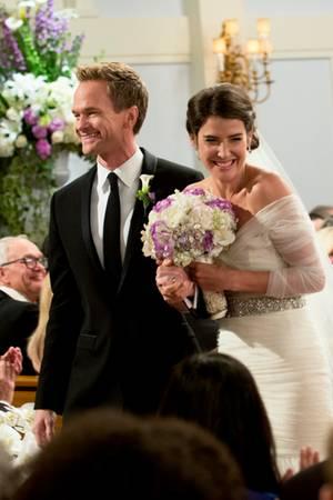 Neil Patrick Harris als Barney und Cobie Smulders als Robin