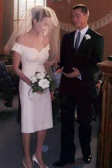 """Angelina Jolie und Brad Pitt bei ihrer Hochzeit im Film """"Mr. & Mrs. Smith"""""""