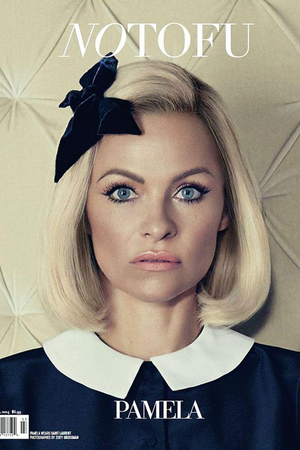 """Pamela Anderson für das """"No Tofu""""-Magazin."""