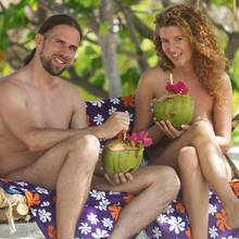 """Raphael und Karina bei """"Adam und Eva""""."""