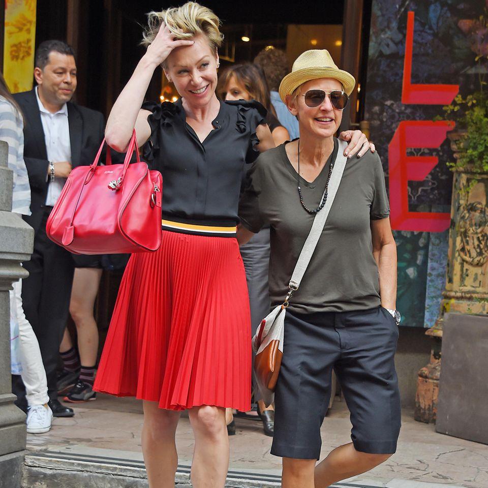 Portia de Rossi + Ellen DeGeneres