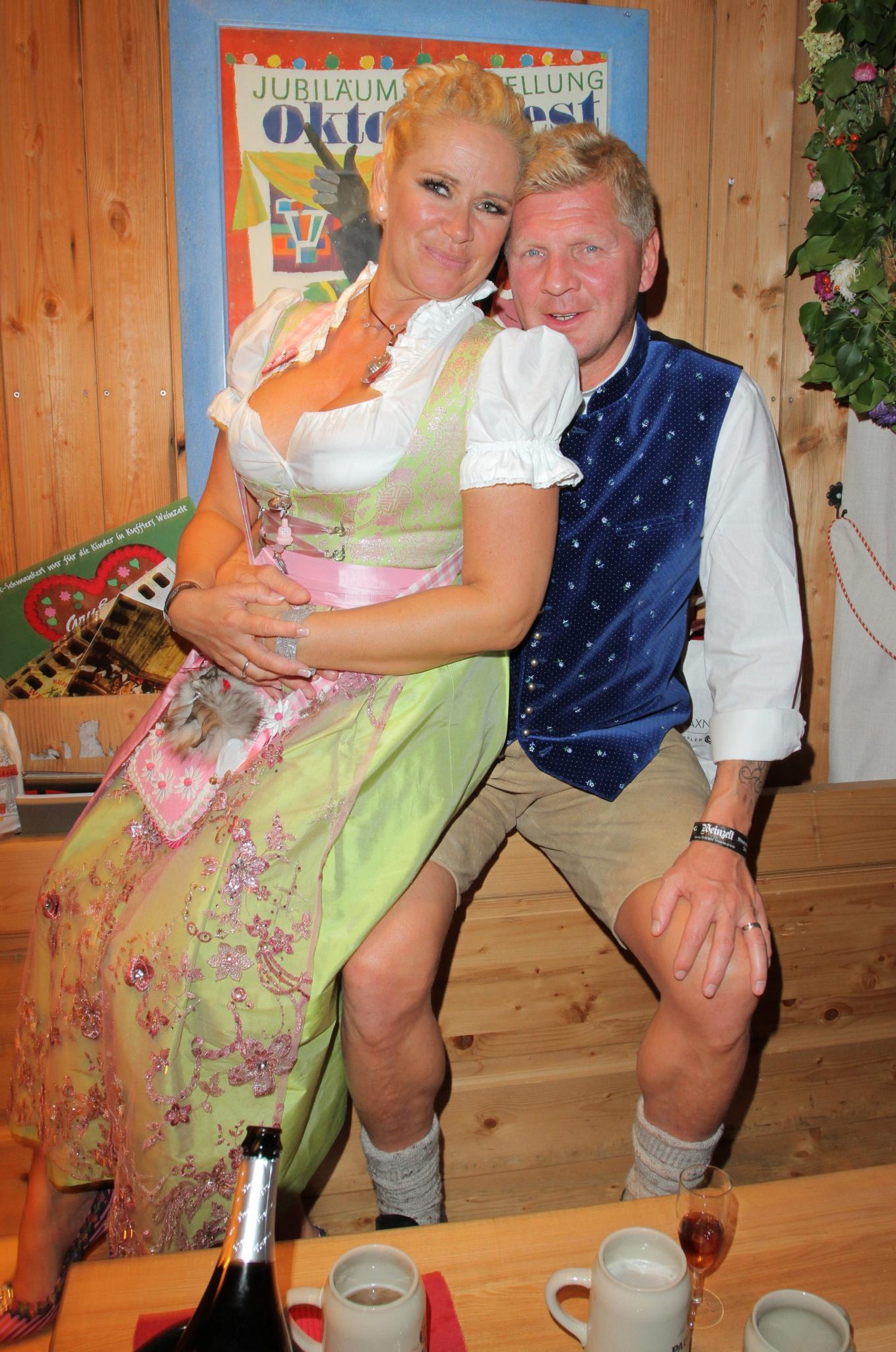 Claudia Effenberg und Stefan Effenberg auf dem Oktoberfest 2013