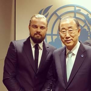 Leonardo DiCaprio + Ban Ki-moon