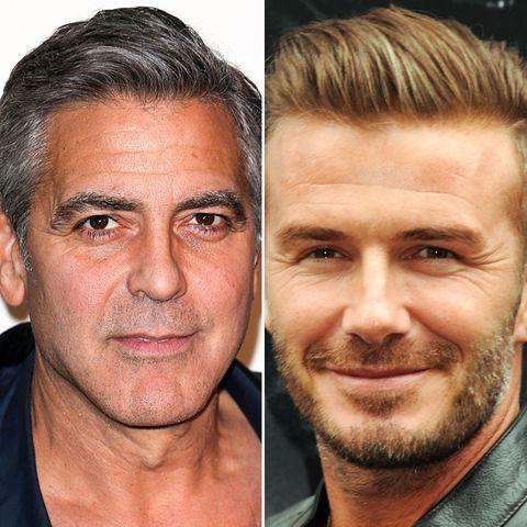 George Clooney und David Beckham