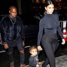 Kanye West, Kim Kardashian + North West