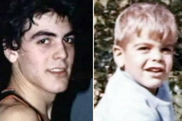 George Clooney als Teenager (li.) und als Kind (r.).