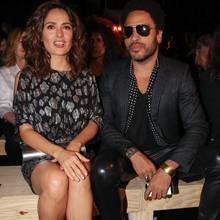 Salma Hayek + Lenny Kravitz