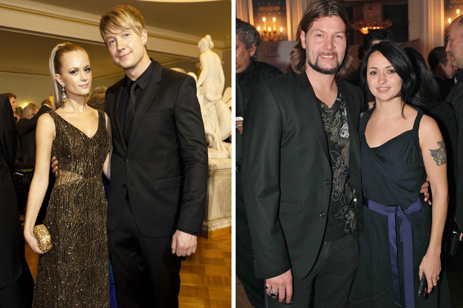 Seit 2010 liiert: Samu Haber und Vivianne.   Rea Garvey mit Ehefrau Josephine. Die beiden sind seit 2002 verheiratet.