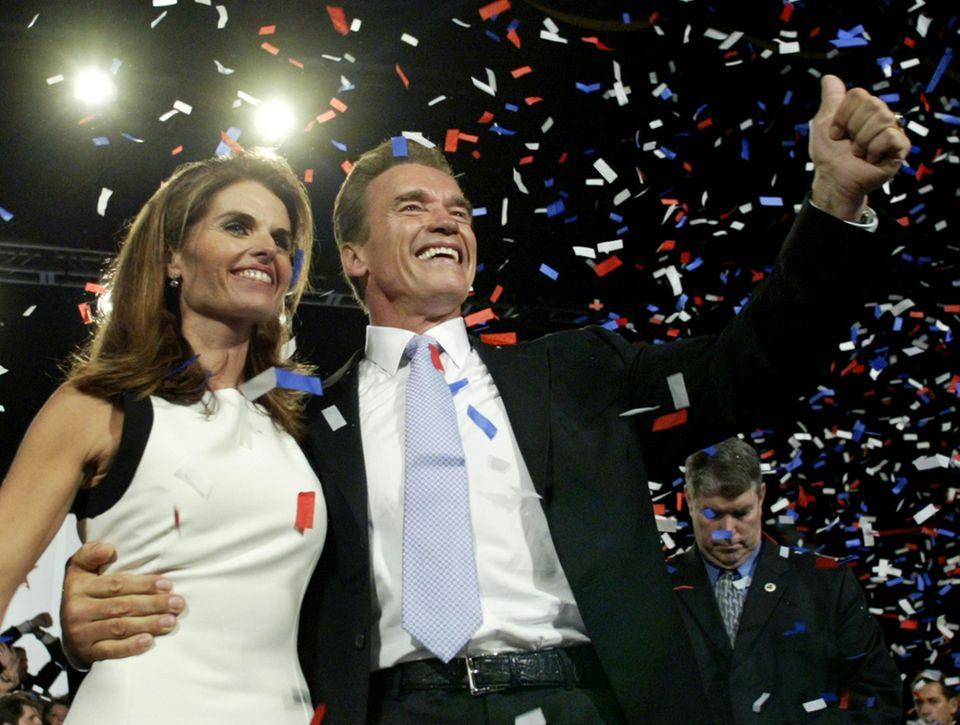 """Auch Schauspieler können ernsthaft Politik betreiben, wie Arnold Schwarzenegger beweist. """"Arnie"""" war von 2003 bis 2011 Gouverneur von Kalifornien."""