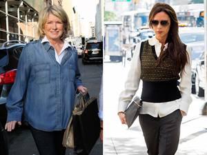 Diese zwei Damen dürften nicht begeistert sein: Für Moderatorin Martha Stewart (li.) ist Gwyneth Paltrow längst eine Konkurrentin, für Victoria Beckham (re.) könnte es noch eine werden.