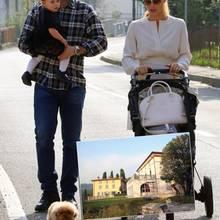 Tomaso Trussardi und Michelle Hunziker mit Sole, Villa in Bergamo
