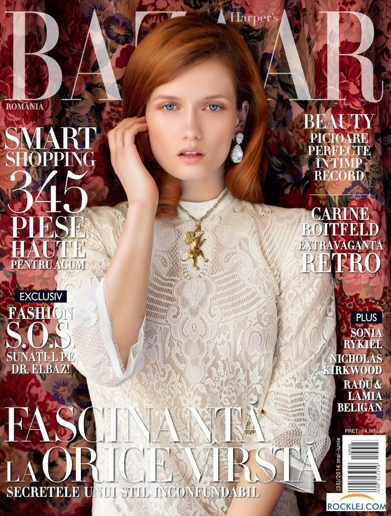 "Katerina Netolicka auf dem Cover der ""Harper's Bazaar"""