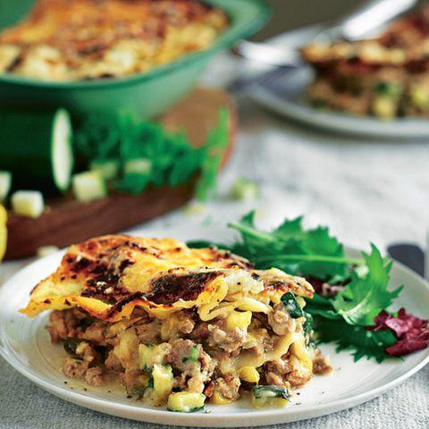 Truthahn-Lasagne mit Spinat à la White House