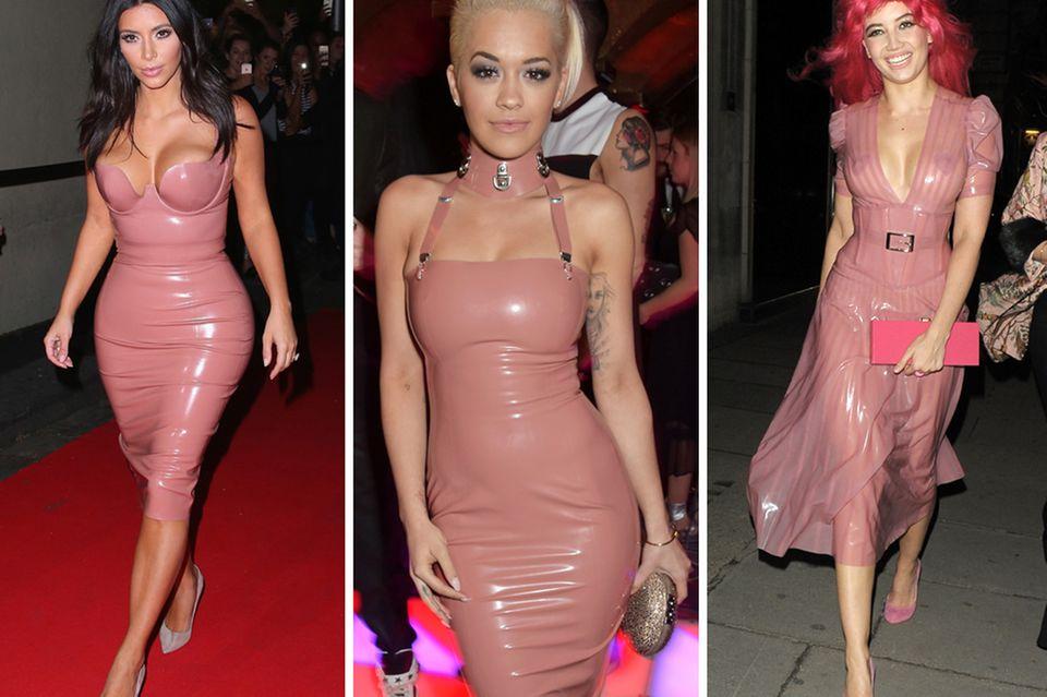 Kim Kardashian, Rita Ora und auch Daisy Lowe bekennen sich mit Freuden als Atsuko-Kudo-Girls und zeigen sich offenherzig, aber stylisch in den hautengen, glänzenden Latex-Styles des Londoner Labels.