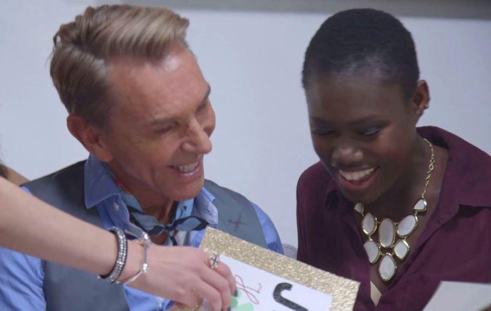 """Karrierestart: Bei """"Germany's Next Topmodel"""" belegte Aminata 2014 den vierten Platz. Zu Juror Wolfgang Joop, 70, hatte sie ein besonders gutes Verhältnis."""