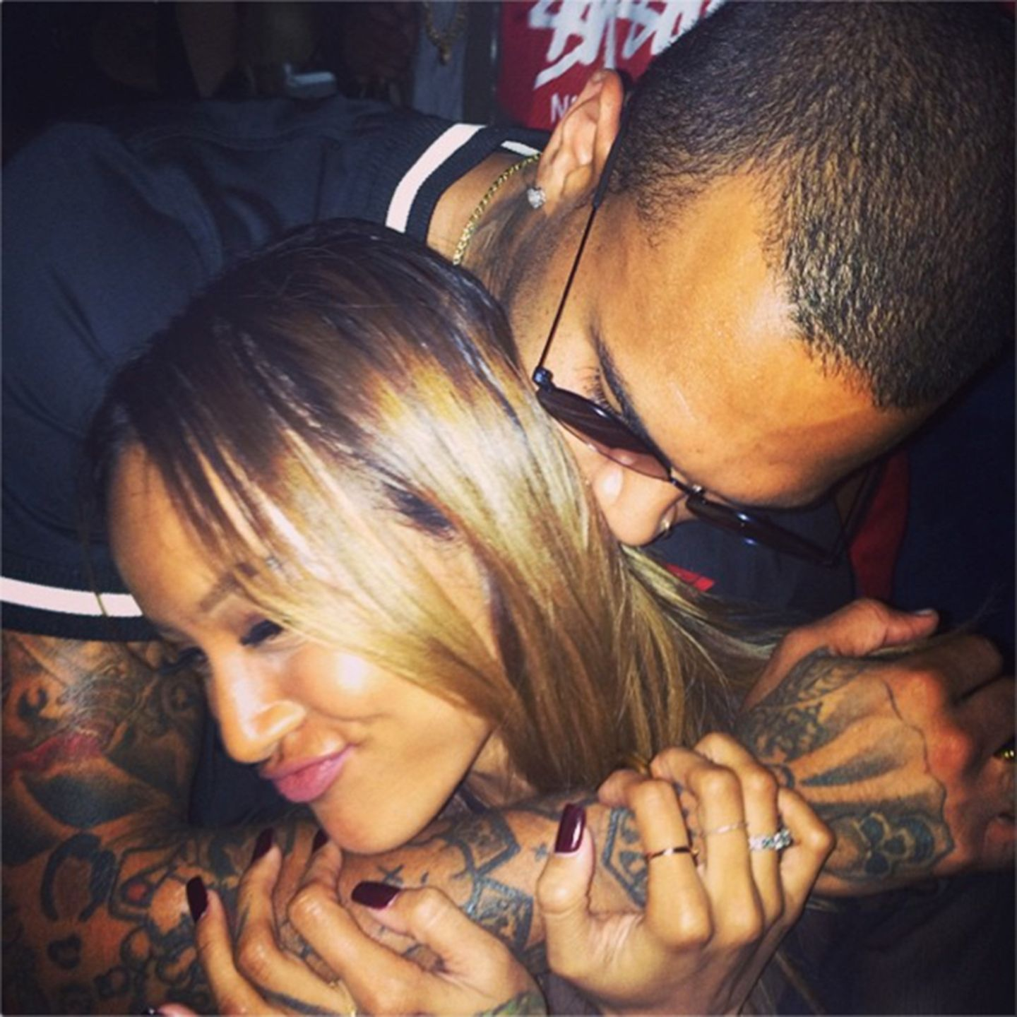 Chris Brown + Karrueche Tran