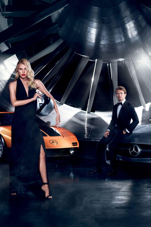 Dree Hemingway, Nico Rosberg und Lewis Hamilton sind die diesjährigen Kampagnen-Stars der Fashion Week Berlin.
