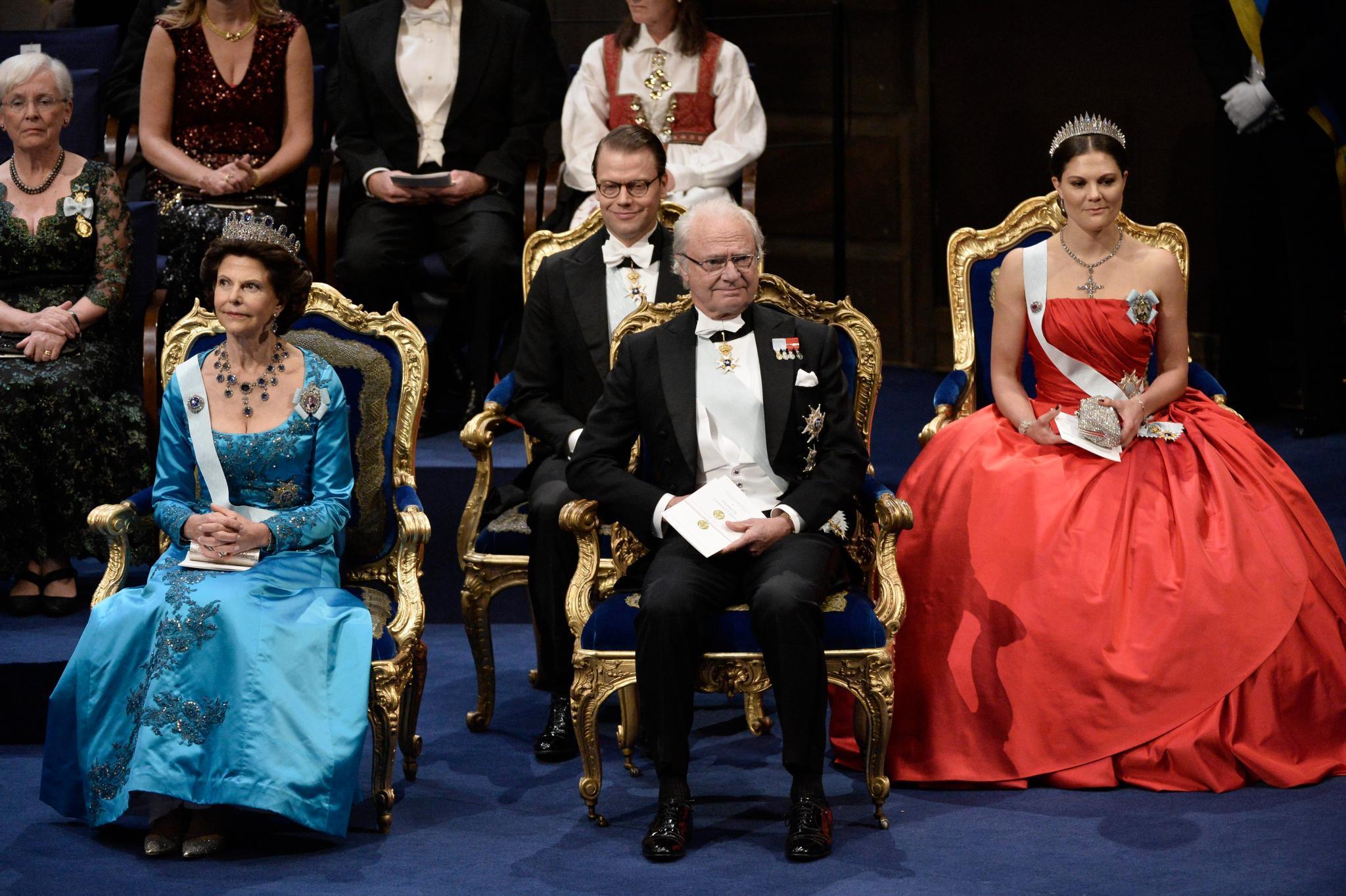 Königin Silvia, König Carl Gustaf, Prinz Daniel und Prinzessin Victoria