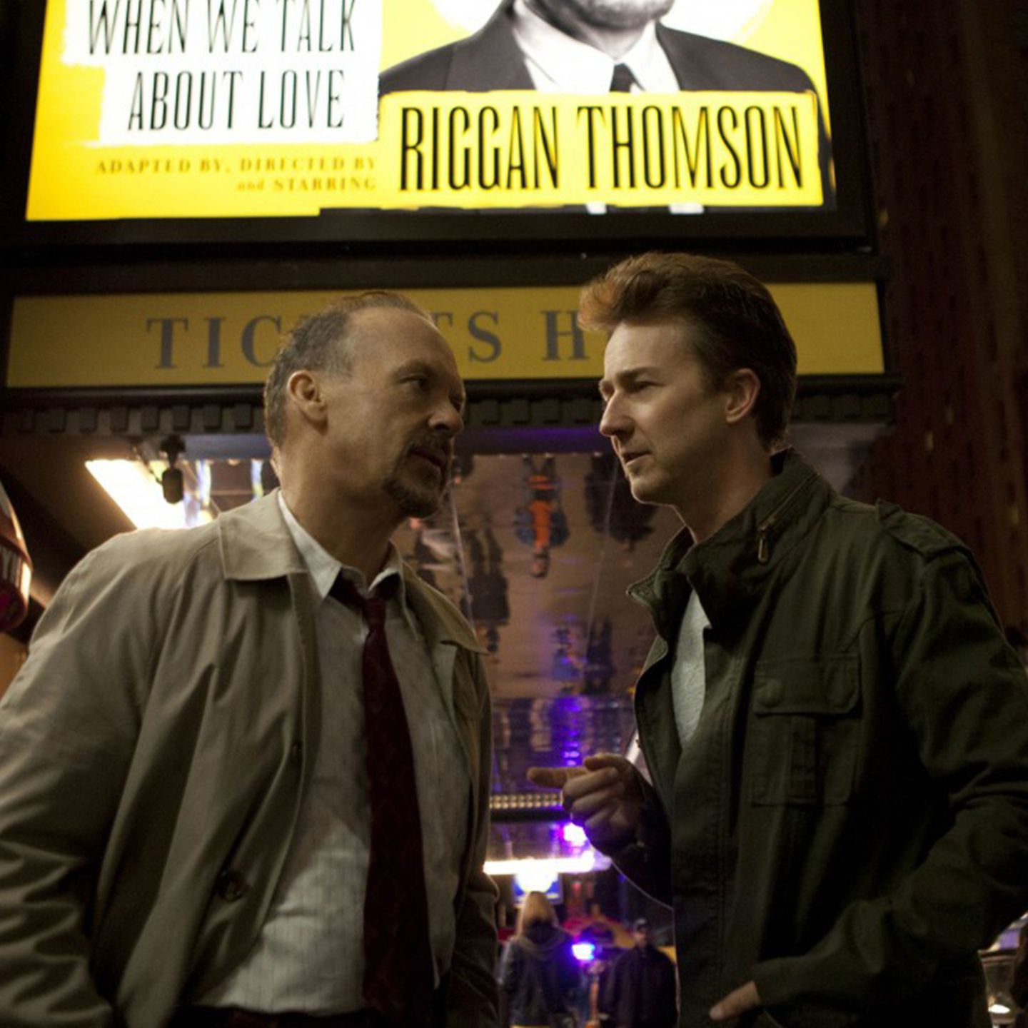 Michael Keaton + Edward Norton