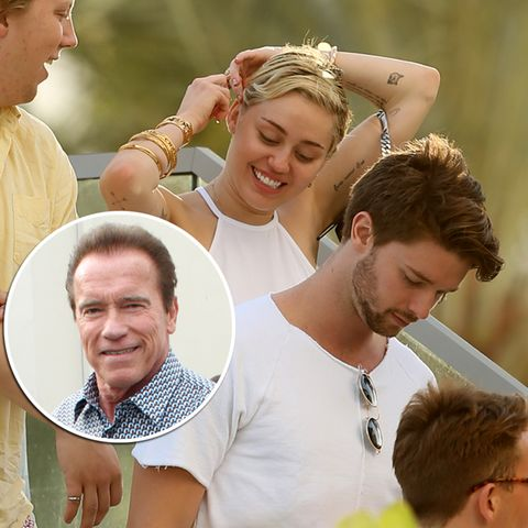 Miley Cyrus, Patrick Schwarzenegger, Arnold Schwarzenegger