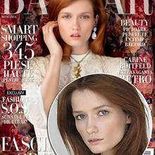 "Katernia Netolicka auf dem Cover der ""Harper's Bazaar"""