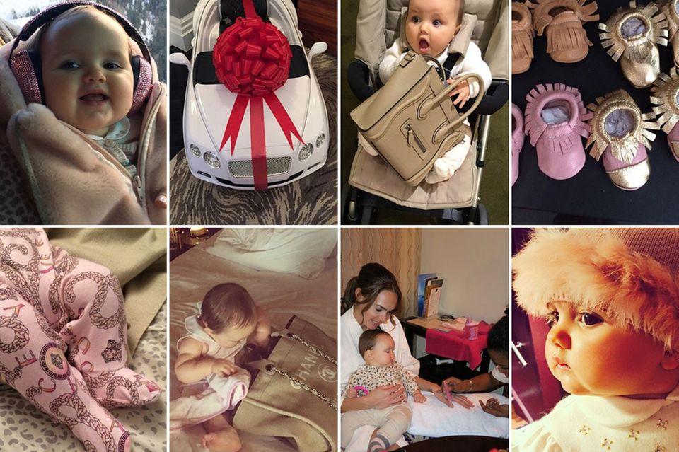 Entweder oder? Gibt es im Leben von Sophia Ecclestone-Rutland nicht. Die Einjährige schwelgt im puren Luxus. Privatjets, Traumhotels, Kaschmir und Pelz oder haufenweise Spielzeug gehören bei ihr zum Alltag.