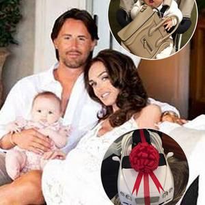 Tamara Ecclestone und Jay Rutland mit ihrer Tochter Sophia