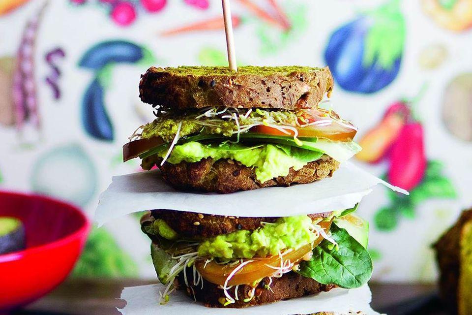 Grünes Sandwich