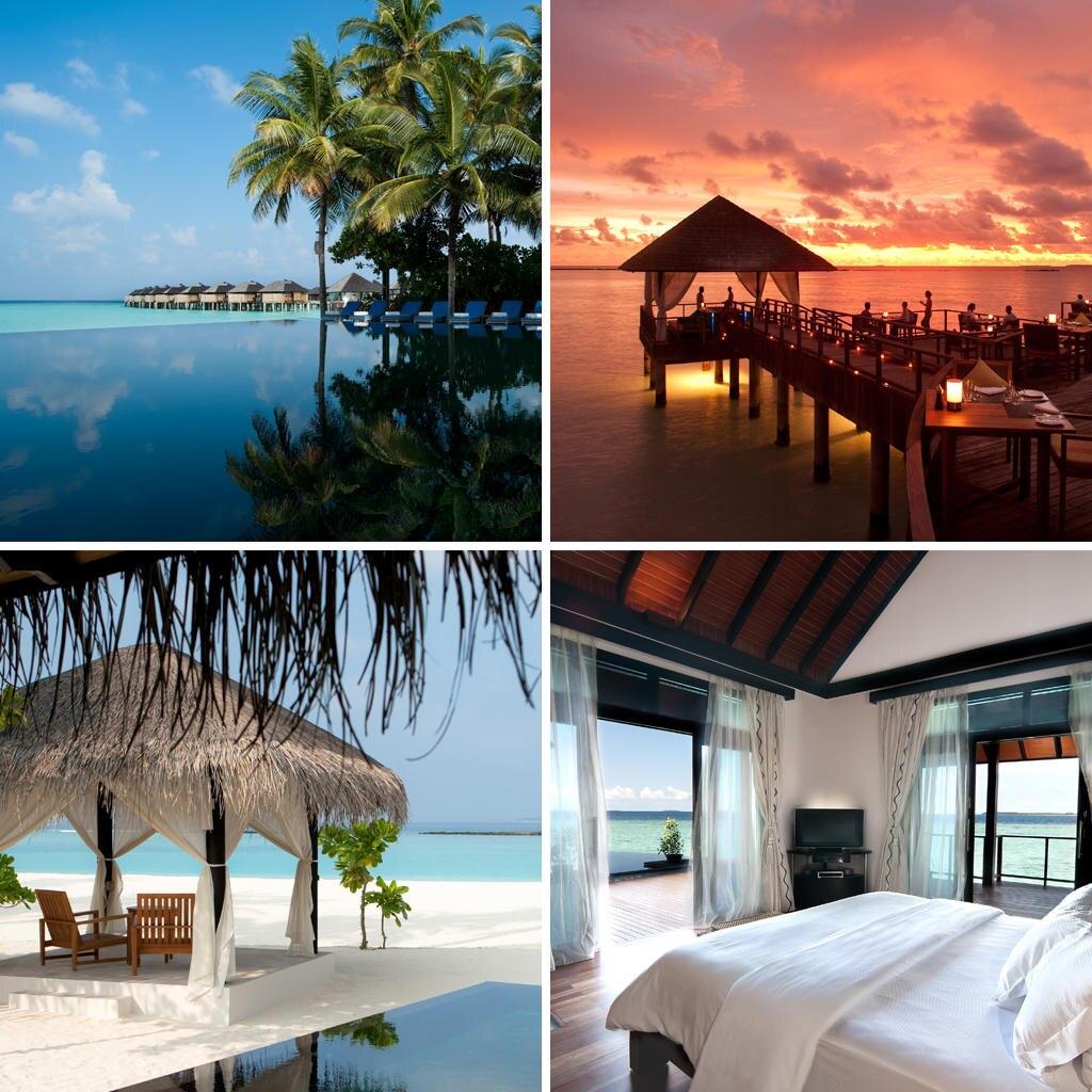 """Candlelight-Dinner und Suite mit direktem Meerblick: Kein Wunder, dass Nicole das """"Sun Siyam Iru Fushi""""-Hotel auf den Malediven für den """"romantischsten Ort"""" hält. Sie liebt besonders den Infinity-Pool."""