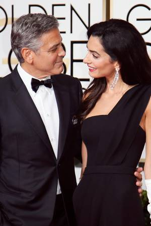 george clooney liebeserkl rung an amal. Black Bedroom Furniture Sets. Home Design Ideas