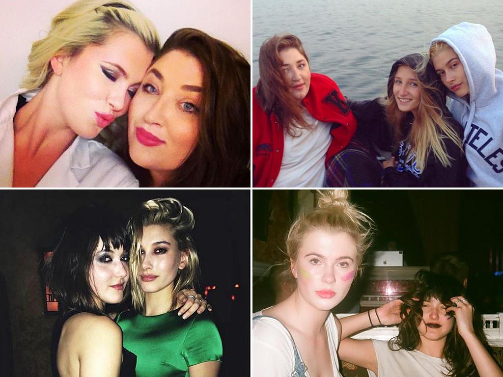 We are family: Auf ihren privaten Social-Media-Kanälen beweisen die Baldwin-Cousinen, wie eng ihre Verbindung ist. Ob Ireland und Kahlea (o.l.), Kahlea, Jameson und Hailey (o.r.), Stephen Baldwins Töchter Alaia und Hailey (u.l.) oder Ireland und Cousine Alaia (u.r.) - die Mädels sind ein eingespieltes Team.