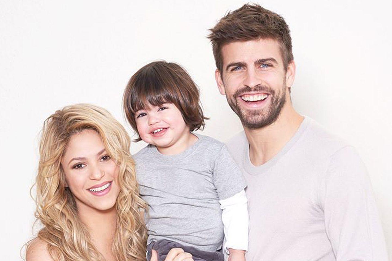 Shakira, Gerard Piqué und ihr Sohn Milan