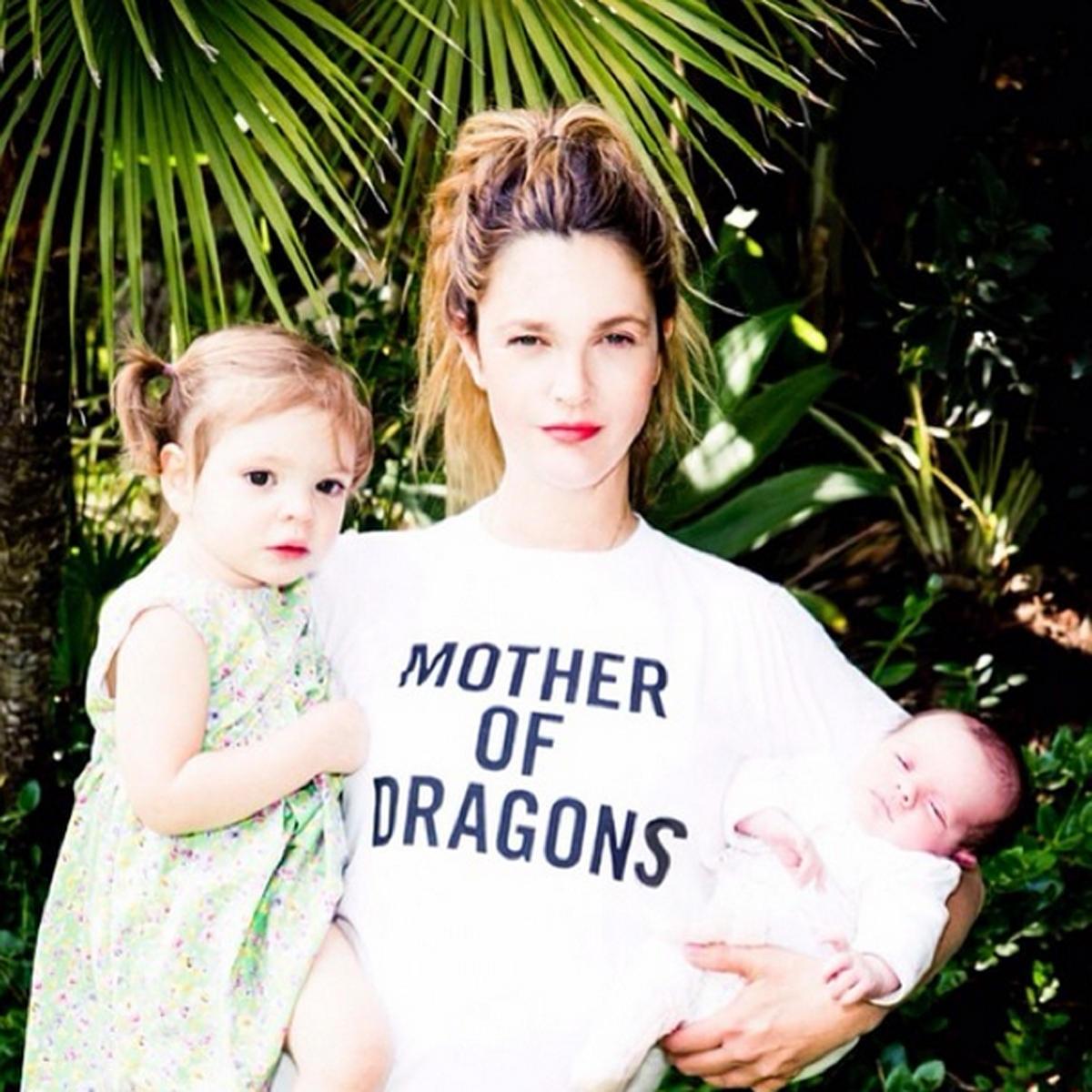 Drew Barrymore mit Olive und Frankie